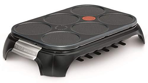 Tefal Crep Party Inox & Design PY558813 - Crepera de Acero Inoxidable y Revestimiento Antiadherente con Capacidad para 6...
